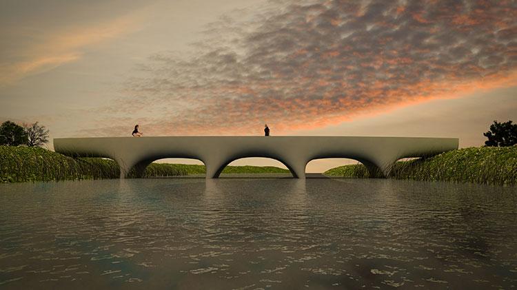 3Dプリンターによる橋のイメージ