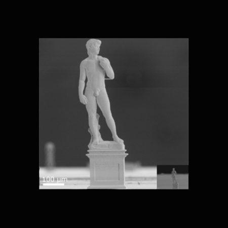 わずか高さ7ミリのダビデ像