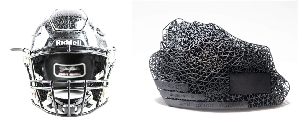 Carbon社3Dプリンターが使われているRiddellのアメフト用ヘルメット