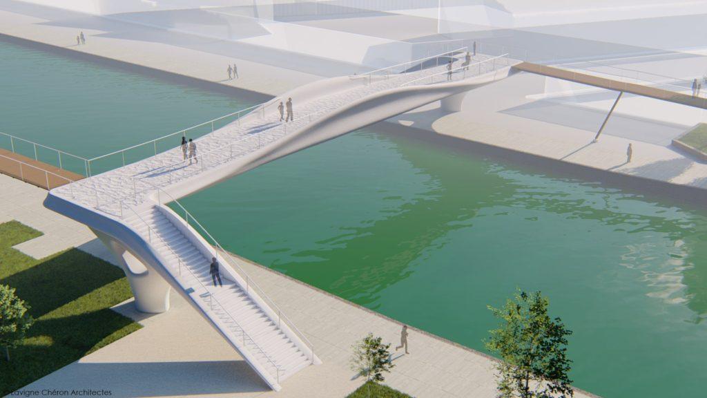 パリ市内に建設予定の3Dプリンティング製歩道橋